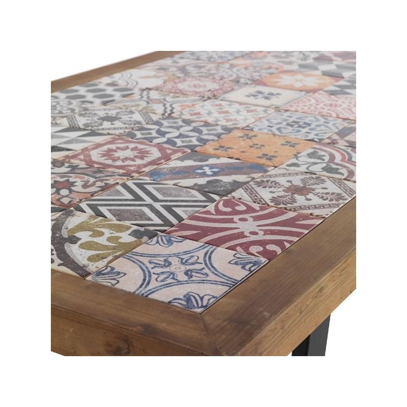 Mesa con baldosas hidr ulicas terraendins - Muebles igualada ...