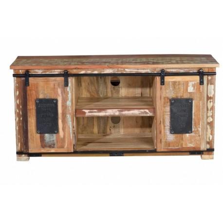 Mueble tele madera de colores 130x40x62cm terraendins - Muebles igualada ...
