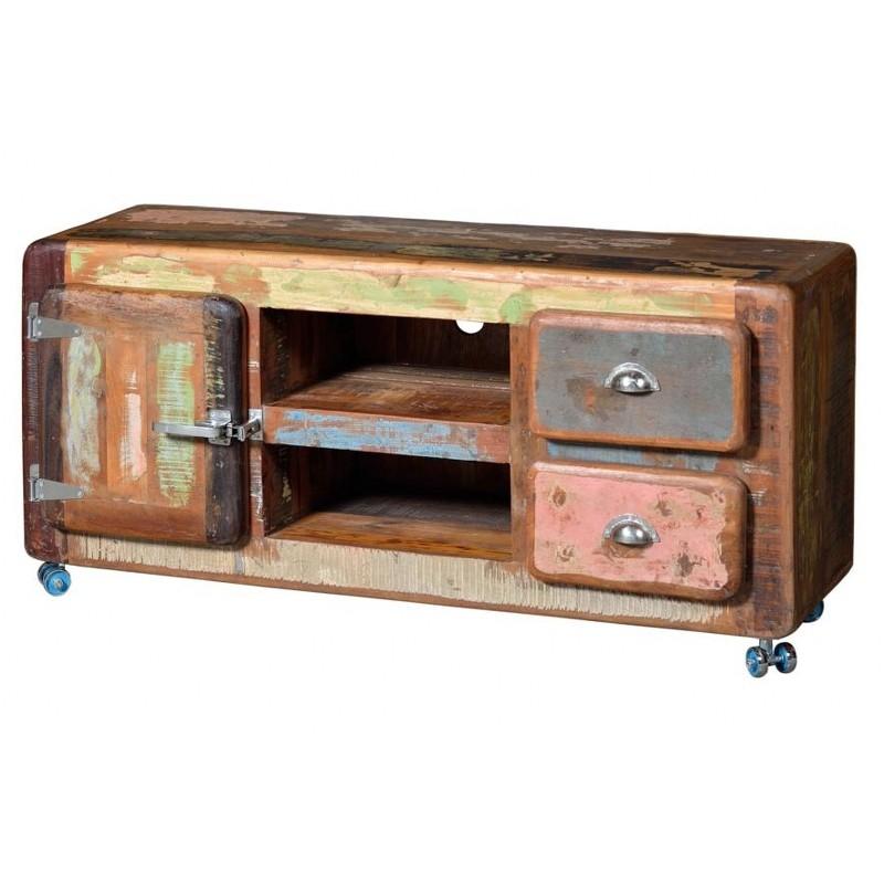 Mueble tele vintage terraendins - Mueble tv con ruedas ...