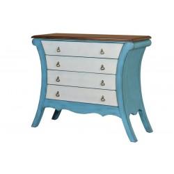 Cómoda color azul