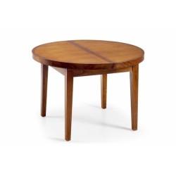 Mesa comedor redonda y extensible