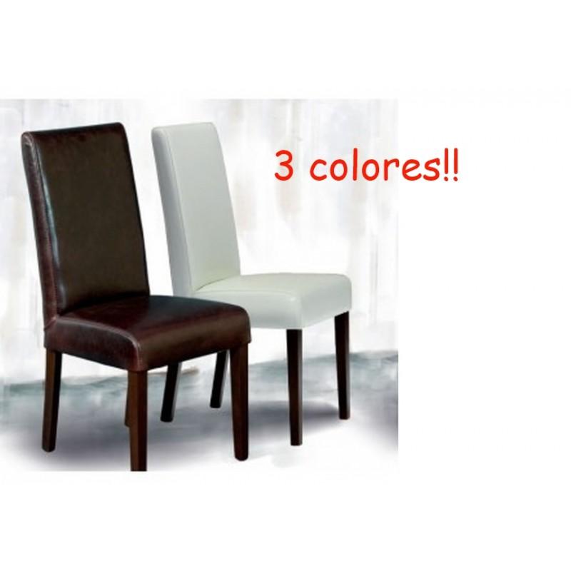 sillas de comedor tapizadas en piel