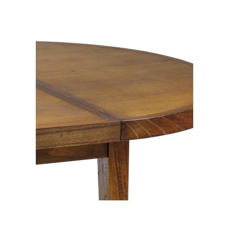 Mesa comedor redonda y extensible terraendins for Mesa comedor redonda extensible madera