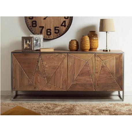 Mueble comedor madera y metal - Terraendins