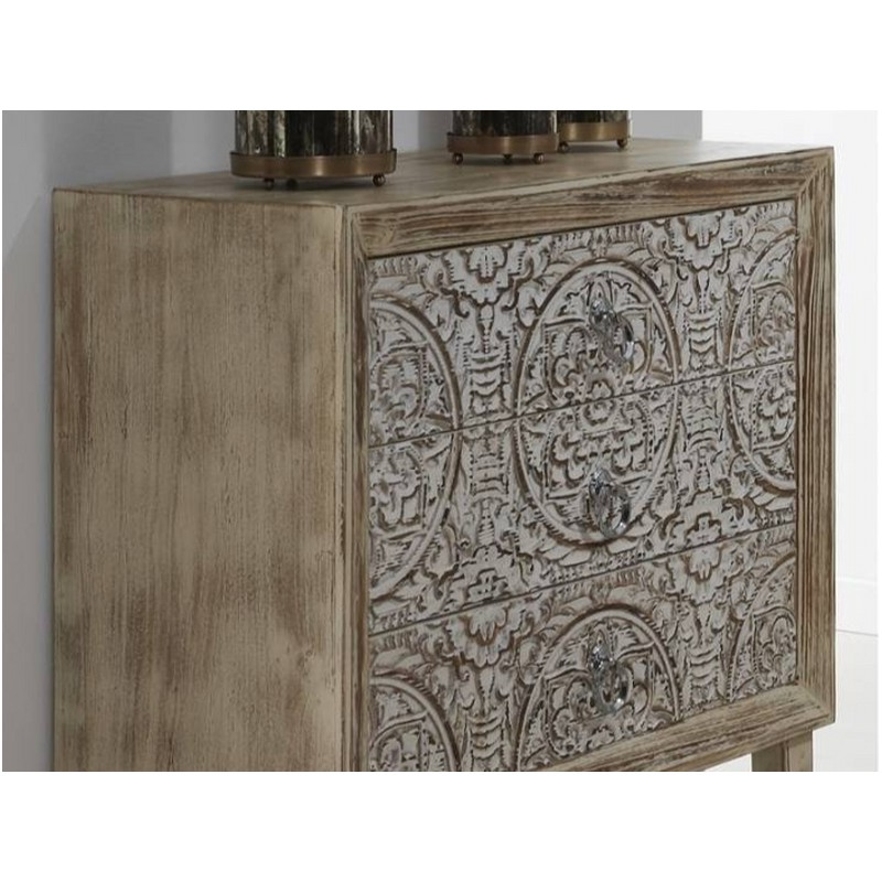 C moda madera tallada 75x33x77cm terraendins - Muebles igualada ...