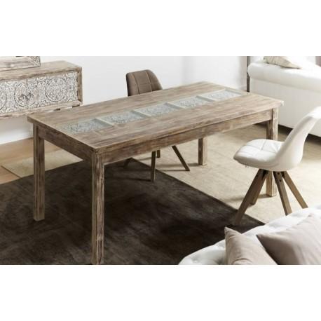 Mesa madera y cristal 180x90x78cm - Terraendins