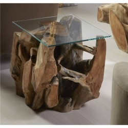 Mesa comedor raíz de teca Ø130cm