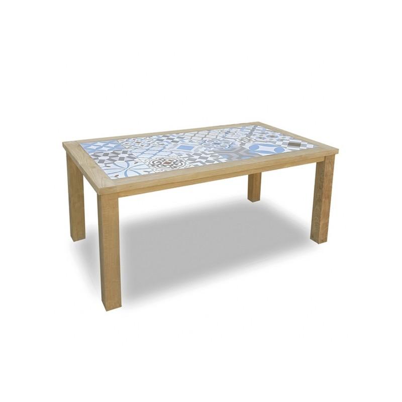 Mesa cocina teca 135x75x77cm - Terraendins