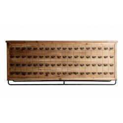 Barra de bar industrial 250x60x100cm