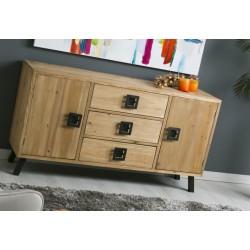 Aparador madera natural 150x40x78 cm