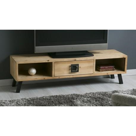 Mueble TV Madera Natural 140x38x38cm