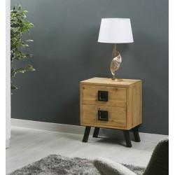 Mesita madera natural 48x35x60 cm.