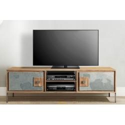 Muble de TV acacia y piedra natural 160x40x53