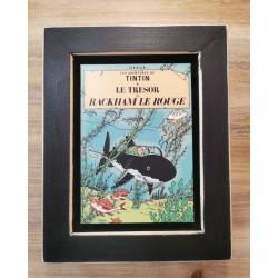 Cuadro portada Tintin 22x17 LE TRESOR RACKAM LE ROUGE