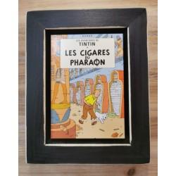 Cuadro portada Tintin 22x17 LES CIGARES DU PHARAON
