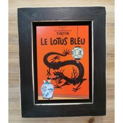 Cuadro portada Tintin 22x17 LE LOTUS BLEU