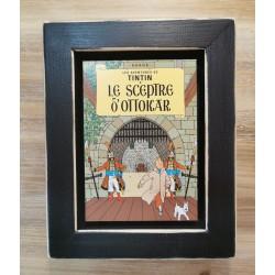 Cuadro portada Tintin 22x17 LE SCEPTRE OTTOKAR