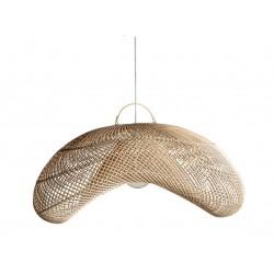 Lámpara de techo ratán 84x62x38 cm.