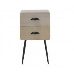 Mesita madera 2 cajones 37x30x51 cm.