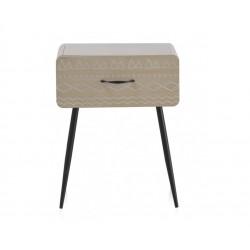 Mesita madera natural 1 cajón 43x30x53 cm.
