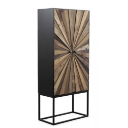 Armario 2 puertas madera abeto 70x35x160cm