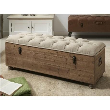 Descalzadora madera y tela 120x42x44cm terraendins - Muebles igualada ...