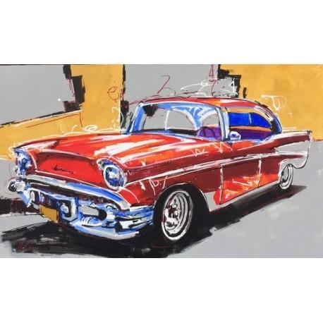 Mustang de colores terraendins - Cuadros pintados a mano online ...