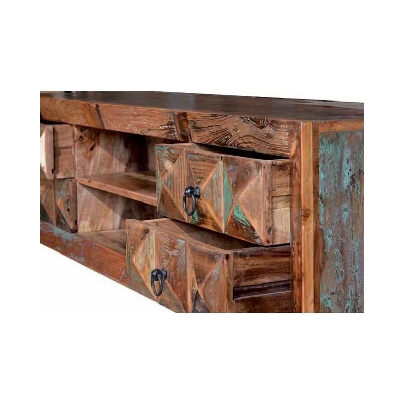 Mueble tele madera y metal 155x40x55cm terraendins - Muebles igualada ...